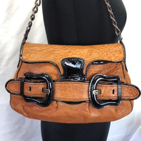 166a85de185c Fendi Brown Leather Shoulder Bag